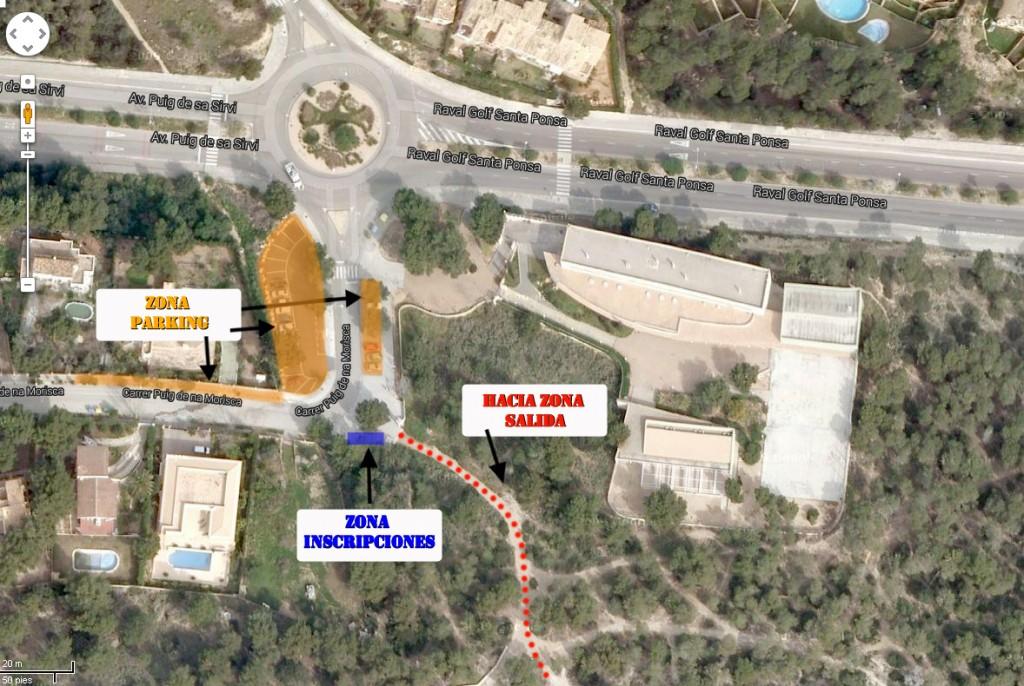 Mapa ubicación Sa Morisca (Carrera Son Miralles)