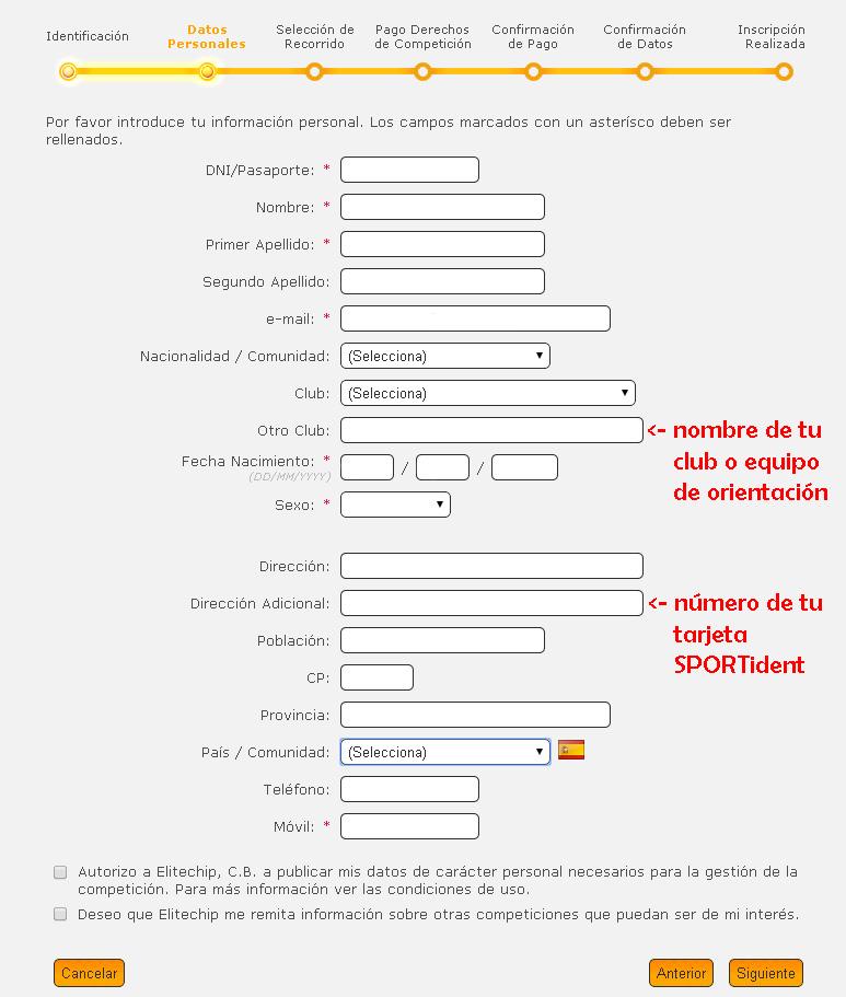 Formulario Inscripción Elitechip